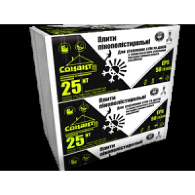 Пенополистирол EPS 50/0.035 (ПСБ - С 25 NT) плотность 9 кг/м3